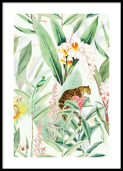Tropic Chic Poster in der Gruppe Poster / Tiere bei Desenio AB (10147)