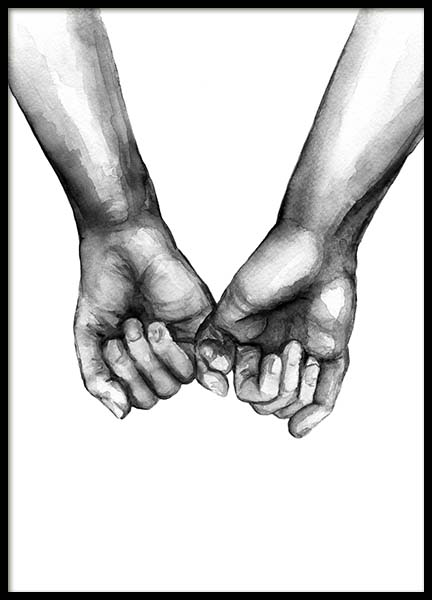 Watercolor Hands No3 Poster in der Gruppe Poster / Illustration bei Desenio AB (10203)