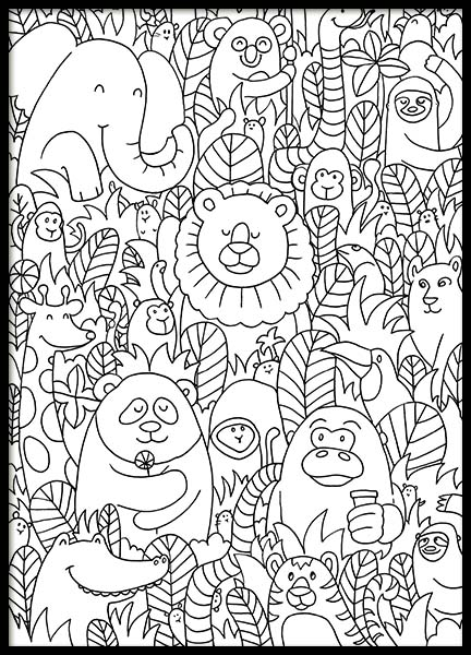 Jungle Friends Poster in der Gruppe Poster / Kinder bei Desenio AB (10205)