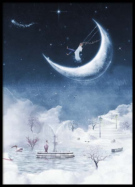 Foggy Winter Night Poster in der Gruppe Poster / Kinder bei Desenio AB (10277)