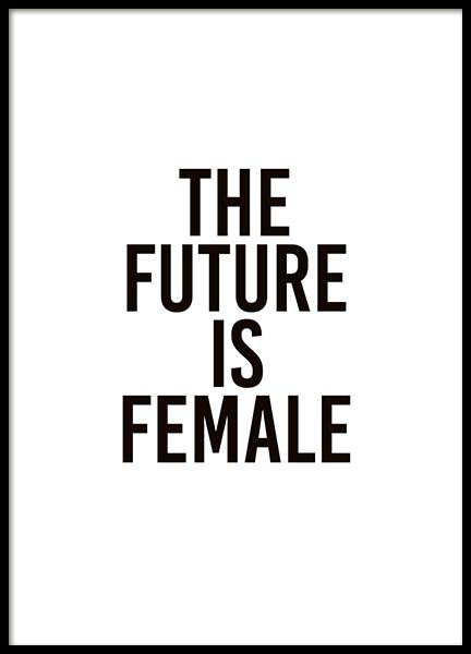 The Future Is Female Poster in der Gruppe Poster / Typografie Poster bei Desenio AB (10293)