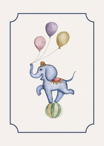 Circus Elephant Poster in der Gruppe Poster / Kinder bei Desenio AB (10325)