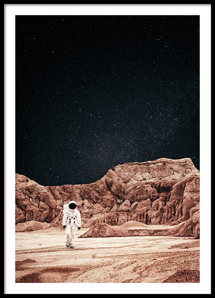 Walking on Mars Poster in der Gruppe Poster / Naturmotive bei Desenio AB (11170)