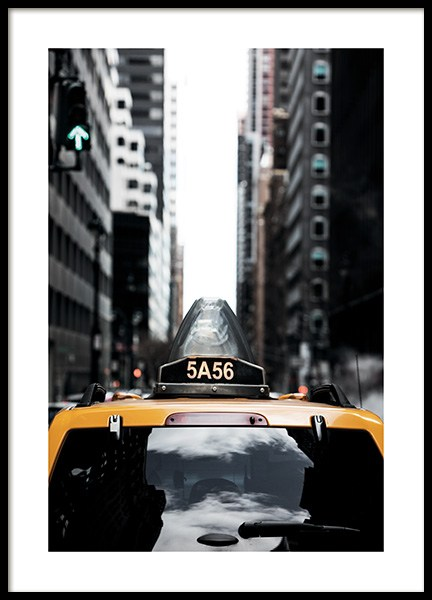NYC Taxi Poster in der Gruppe Poster / Fotografien bei Desenio AB (11327)