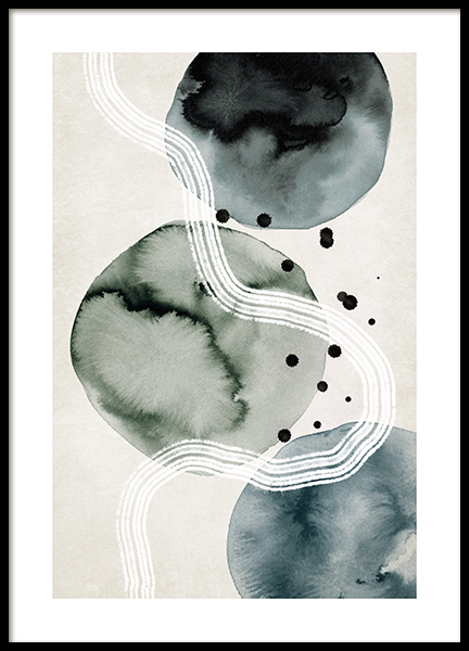 Ink Formations No2 Poster