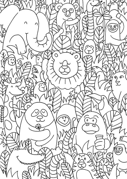 Jungle Friends Poster / Kinder bei Desenio AB (10205)