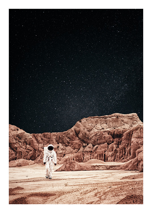 Walking on Mars Poster / Naturmotive bei Desenio AB (11170)
